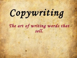13 copywriting essentials